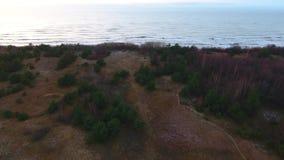 Εναέριο μήκος σε πόδηα της βαλτικής ακτής απόθεμα βίντεο