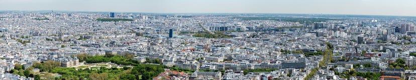 Εναέριο πανόραμα άποψης εικονικής παράστασης πόλης του Παρισιού Στοκ Εικόνα