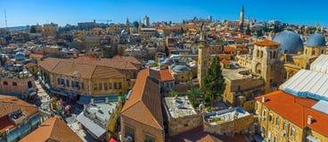 Εναέριο πανόραμα της Ιερουσαλήμ Στοκ εικόνα με δικαίωμα ελεύθερης χρήσης