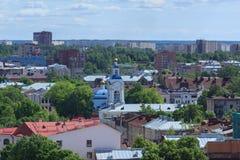 Εναέριο πανόραμα της παλαιάς πόλης Στοκ Εικόνες