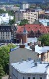 Εναέριο πανόραμα της παλαιάς πόλης Στοκ εικόνες με δικαίωμα ελεύθερης χρήσης