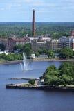 Εναέριο πανόραμα της παλαιάς πόλης Στοκ φωτογραφία με δικαίωμα ελεύθερης χρήσης