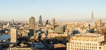 Εναέριο πανόραμα της πόλης του Λονδίνου Στοκ Εικόνα