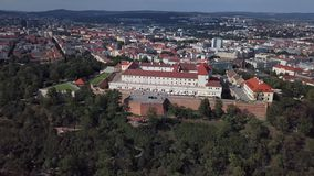 Εναέριο πανόραμα Spilberk Castle, Μπρνο απόθεμα βίντεο