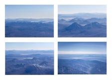 Εναέριο σύνολο φωτογραφιών άποψης βουνών των Άνδεων Στοκ Φωτογραφίες