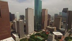 Εναέριο Τέξας Χιούστον απόθεμα βίντεο