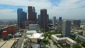 Εναέριο τηλεοπτικό στο κέντρο της πόλης Λος Άντζελες απόθεμα βίντεο