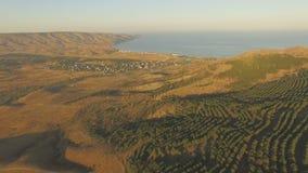 Εναέριο τοπίο στην Κριμαία απόθεμα βίντεο
