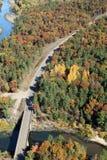 Εναέριο φθινόπωρο του Ουισκόνσιν κεντροδυτικού Στοκ εικόνες με δικαίωμα ελεύθερης χρήσης