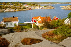 Εναέριο φιορδ Kragero, Portor άποψης στη Νορβηγία Στοκ Εικόνες