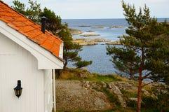 Εναέριο φιορδ Kragero, Portor άποψης στη Νορβηγία Στοκ εικόνες με δικαίωμα ελεύθερης χρήσης