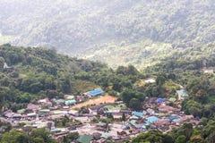 Εναέριο χωριό Doi Pui Hmong άποψης στοκ εικόνες