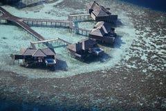 εναέριο ύδωρ βιλών όψης Στοκ Φωτογραφία