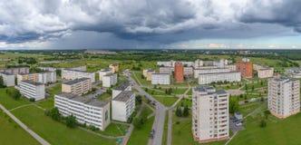 εναέριο strandja φωτογραφίας βουνών της Βουλγαρίας Ένας όμορφος θυελλώδης ουρανός πριν από τη βροχή στοκ εικόνα με δικαίωμα ελεύθερης χρήσης