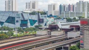 Εναέριο timelapse σταθμών μετρό ανατολικής ανταλλαγής Jurong, μια από τη σημαντικότερη ενσωματωμένη πλήμνη δημόσιου μέσου μεταφορ φιλμ μικρού μήκους