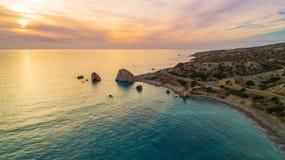 Εναέριο tou Romiou, Πάφος, Κύπρος της Petra Στοκ Φωτογραφία