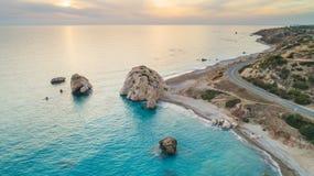 Εναέριο tou Romiou, Πάφος, Κύπρος της Petra Στοκ φωτογραφία με δικαίωμα ελεύθερης χρήσης