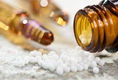 Εναλλακτική ιατρική με βοτανικό και τα χάπια Στοκ εικόνες με δικαίωμα ελεύθερης χρήσης