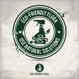Εναλλακτικό γραμματόσημο χλωρίδας eco διανυσματική απεικόνιση
