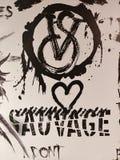 Εναντίον του sauvage Στοκ Εικόνα