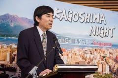 Εναρκτήριος προσφώνηση από Haruhisa Takeuchi, πρεσβευτής της Ιαπωνίας στη Σιγκαπούρη στοκ εικόνες