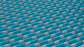 Εναλλασσόμενη σειρά μπλε και άσπρων χαπιών καψών διανυσματική απεικόνιση