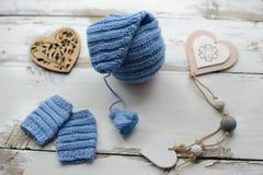 Ενδύματα για το νεογέννητο στο νέο ύφος έτους ` s Στοκ Φωτογραφία