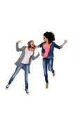Ενεργά νέα κορίτσια Στοκ φωτογραφία με δικαίωμα ελεύθερης χρήσης