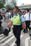 2015 ενεργά στελέχη Μάρτιος Χονγκ Κονγκ μπροστά από την ψηφοφορία για την εκλογική συσκευασία Στοκ φωτογραφίες με δικαίωμα ελεύθερης χρήσης