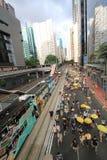 2015 ενεργά στελέχη Μάρτιος Χονγκ Κονγκ μπροστά από την ψηφοφορία για την εκλογική συσκευασία Στοκ εικόνα με δικαίωμα ελεύθερης χρήσης