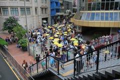 2015 ενεργά στελέχη Μάρτιος Χονγκ Κονγκ μπροστά από την ψηφοφορία για την εκλογική συσκευασία Στοκ Εικόνες