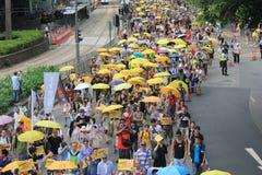 2015 ενεργά στελέχη Μάρτιος Χονγκ Κονγκ μπροστά από την ψηφοφορία για την εκλογική συσκευασία Στοκ φωτογραφία με δικαίωμα ελεύθερης χρήσης