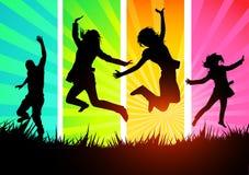 ενεργές νεολαίες ανθρώπ&o διανυσματική απεικόνιση