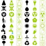 ενεργειακά εικονίδια π&omi Στοκ Εικόνα