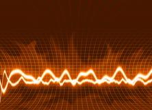 ενεργειακά κύματα ανασκό διανυσματική απεικόνιση