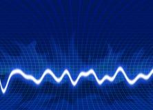 ενεργειακά κύματα ανασκό Στοκ φωτογραφία με δικαίωμα ελεύθερης χρήσης