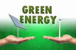 ενεργειακά πράσινα διαλύματα Στοκ Εικόνα