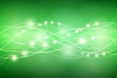 Ενεργειακές γραμμές στο πράσινο υπόβαθρο Στοκ φωτογραφία με δικαίωμα ελεύθερης χρήσης