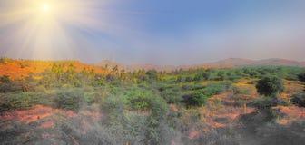 Ενεργειακές εναλλακτικές λύσεις 7 Αιολικό πάρκο στην ινδική επαρχία του Κεράλα Στοκ εικόνες με δικαίωμα ελεύθερης χρήσης