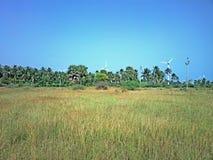 Ενεργειακές εναλλακτικές λύσεις 4 Αιολικό πάρκο στην ινδική επαρχία του Κεράλα Στοκ Φωτογραφία