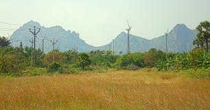 Ενεργειακές εναλλακτικές λύσεις 6 Αιολικό πάρκο στην ινδική επαρχία του Κεράλα Στοκ φωτογραφίες με δικαίωμα ελεύθερης χρήσης