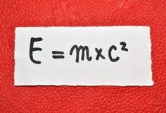 Ενεργειακή εξίσωση Στοκ εικόνες με δικαίωμα ελεύθερης χρήσης