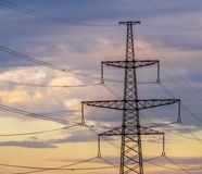Ενεργειακός πυλώνας πύργων μετάδοσης υψηλής τάσης ηλεκτρικός στοκ φωτογραφίες με δικαίωμα ελεύθερης χρήσης