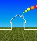 ενεργειακό σπίτι eco ανασκόπ Στοκ εικόνα με δικαίωμα ελεύθερης χρήσης