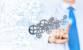 Ενεργοποιώντας μηχανισμός εργαλείων επιχειρηματιών Στοκ Εικόνα