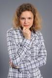 ενεργός γυναίκα πορτρέτο Στοκ εικόνα με δικαίωμα ελεύθερης χρήσης