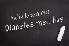 Ενεργός ζωή με το διαβήτη Στοκ φωτογραφία με δικαίωμα ελεύθερης χρήσης