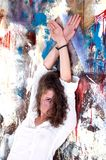 ενεργό κορίτσι μόδας Στοκ Εικόνα