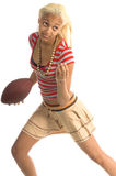ενεργό κορίτσι footballl Στοκ Φωτογραφία