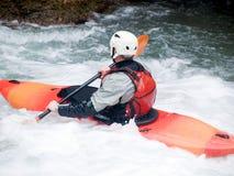 ενεργό kayaker Στοκ εικόνες με δικαίωμα ελεύθερης χρήσης